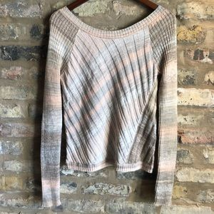 FREE PEOPLE multicolor Knit scoop Sweater Small